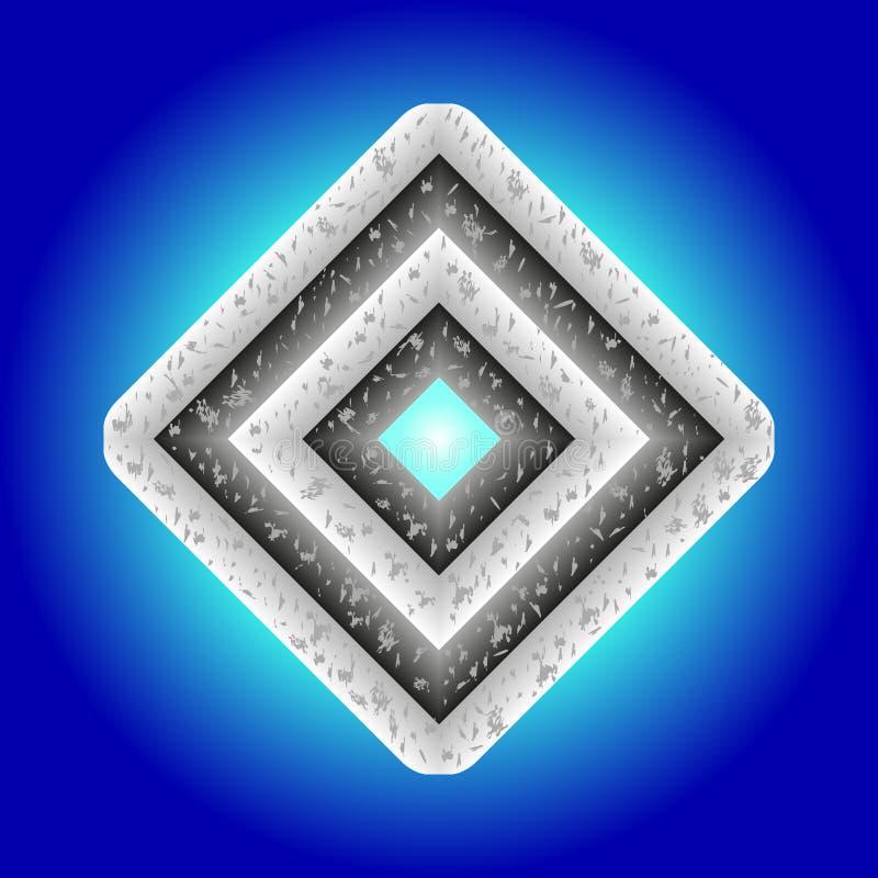 Diamante del metallo illustrazione vettoriale