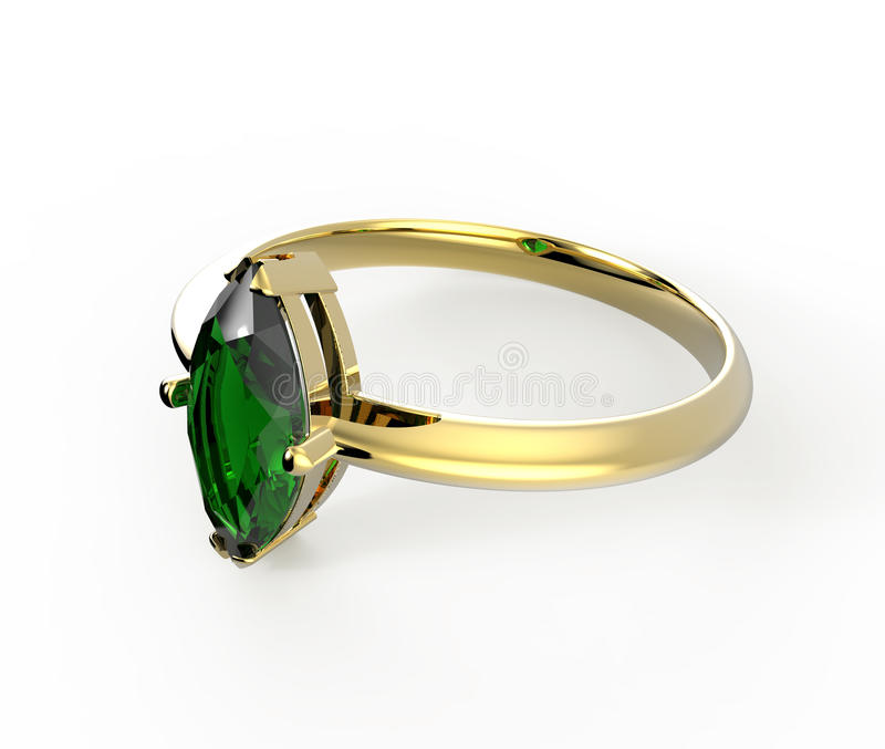Diamante del wiith della fede nuziale illustrazione 3D illustrazione vettoriale