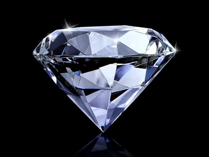Diamante di abbagliamento su fondo nero fotografia stock libera da diritti