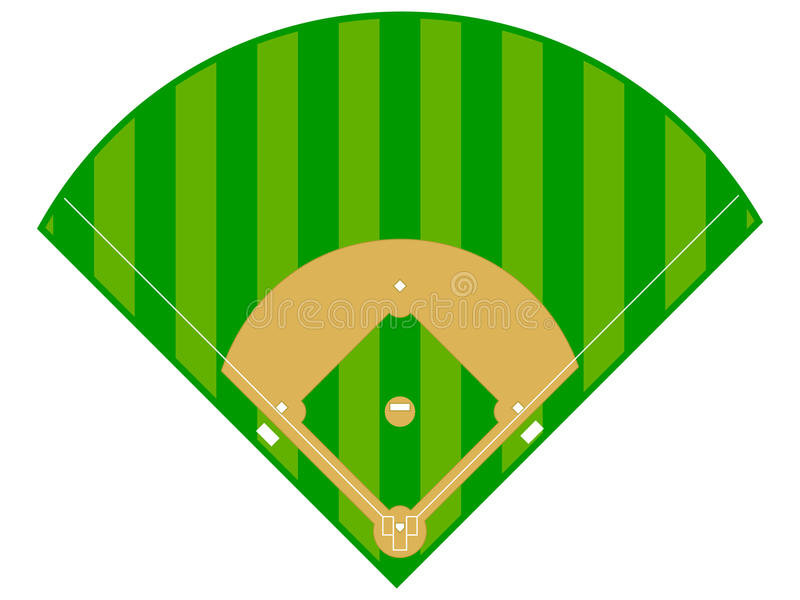 Diamante di baseball illustrazione vettoriale
