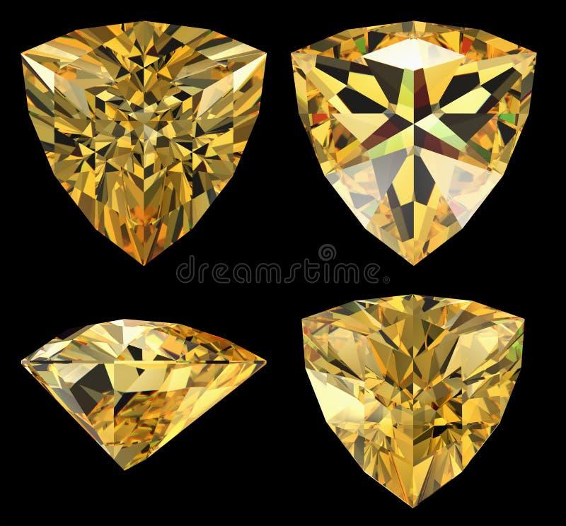 Diamante di figura del triangolo isolato illustrazione vettoriale