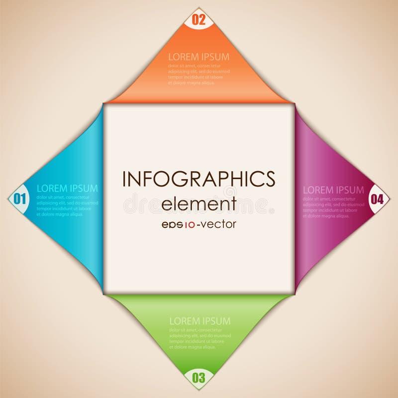 Diamante di Infographics immagini stock