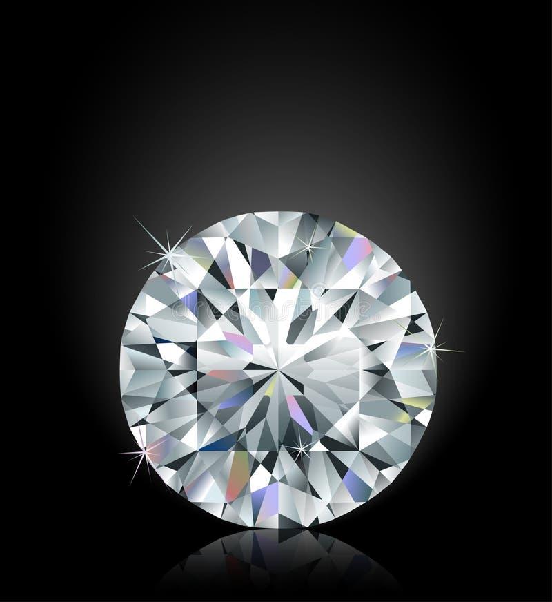 Diamante di luccichio fotografia stock