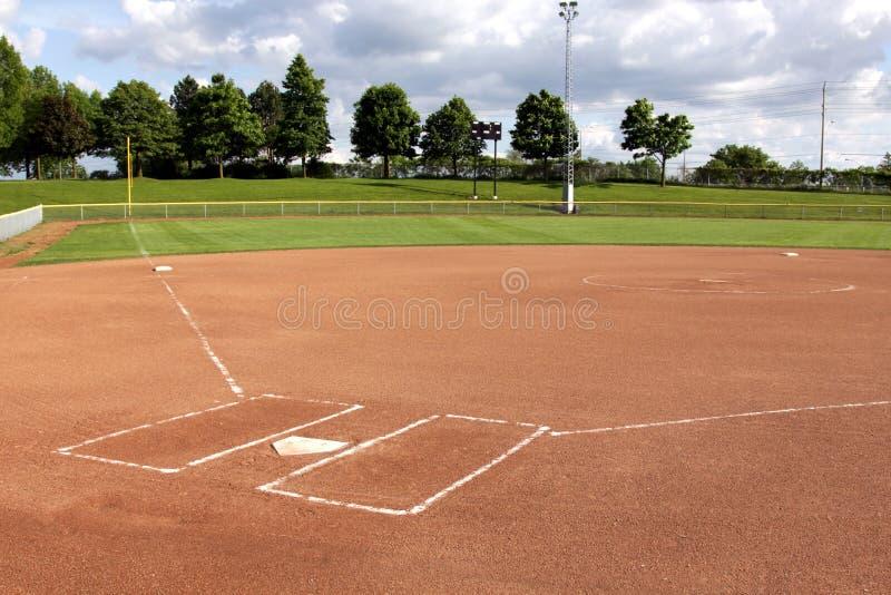Diamante di softball fotografia stock libera da diritti