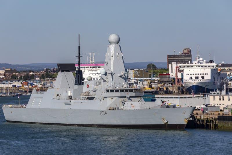 Diamante do HMS - tipo 45 contratorpedeiro - marinha real - Grâ Bretanha foto de stock