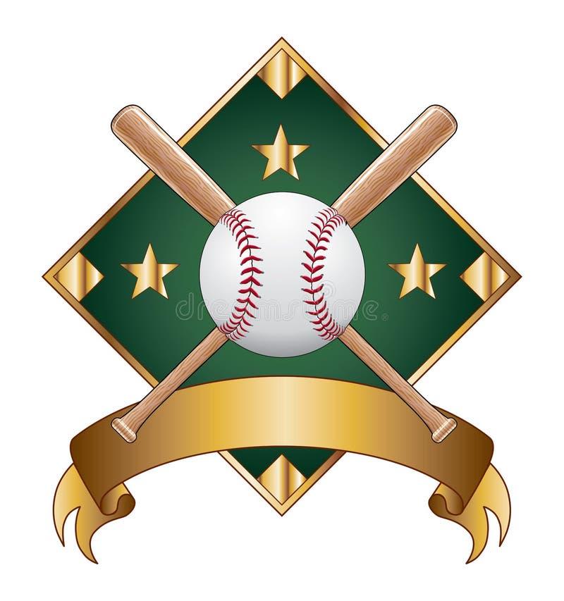 Diamante do molde do projeto do basebol ilustração stock