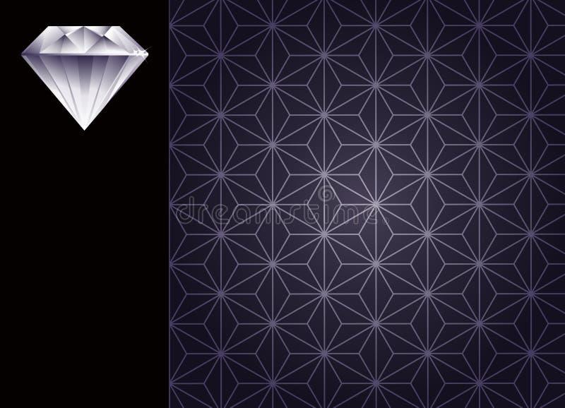 Diamante e priorità bassa fotografia stock libera da diritti