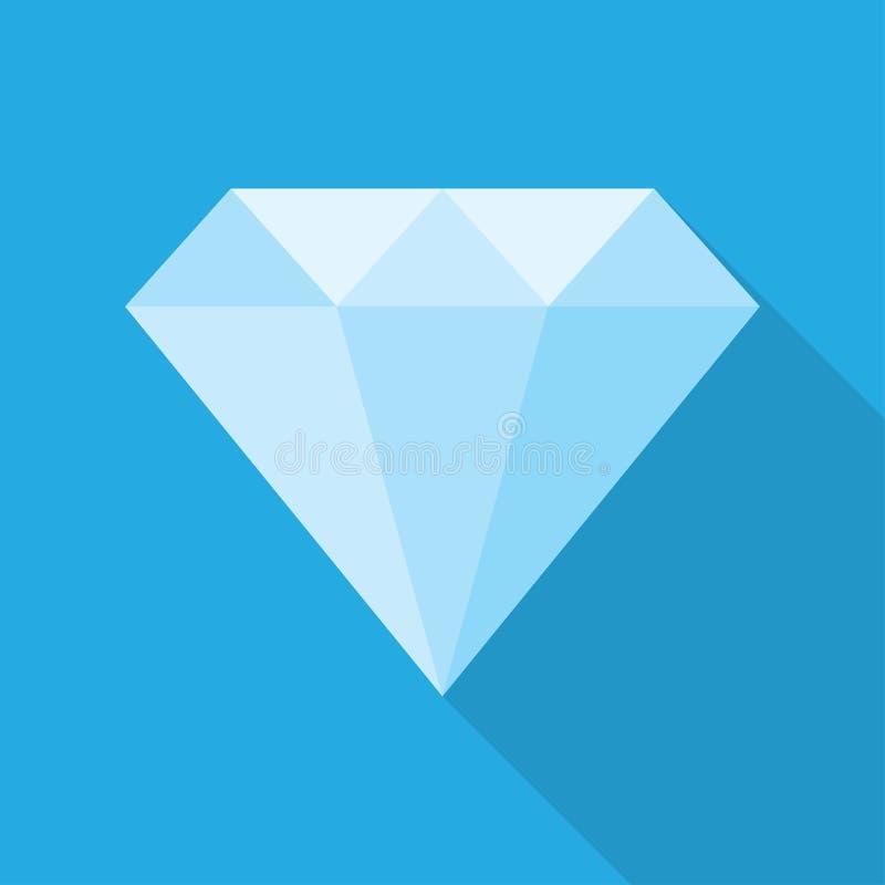Diamante em um estilo liso ilustração royalty free