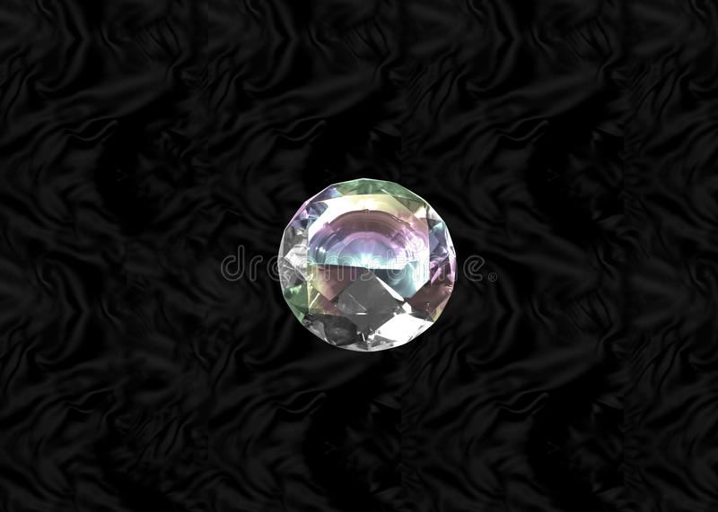 Diamante en el terciopelo negro stock de ilustración