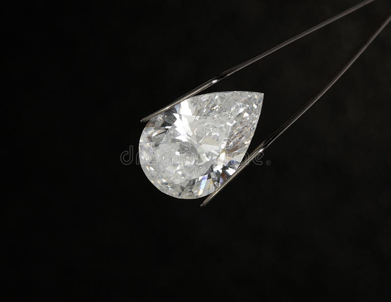 Diamante en forma de pera fotografía de archivo