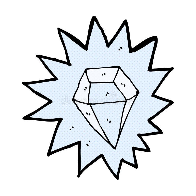 diamante enorme del fumetto comico illustrazione di stock