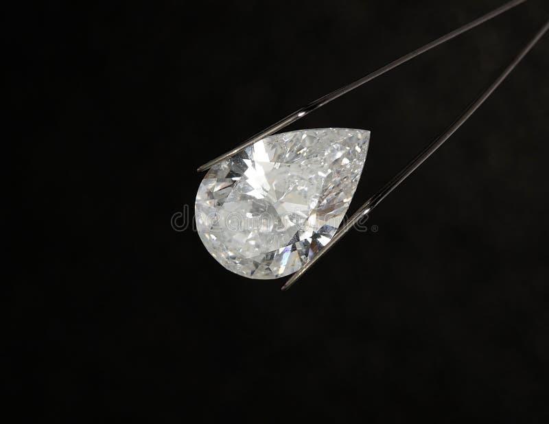 Diamante a forma di pera fotografia stock