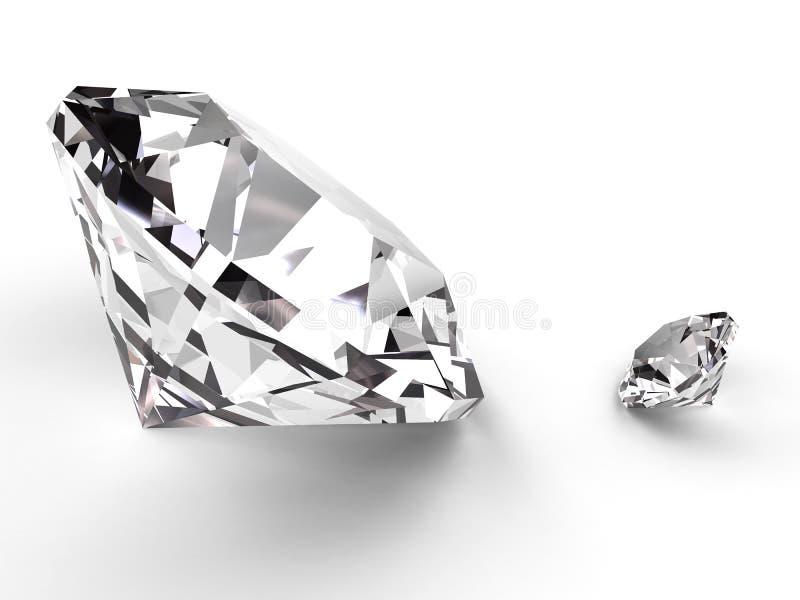 Diamante grande y pequeño stock de ilustración
