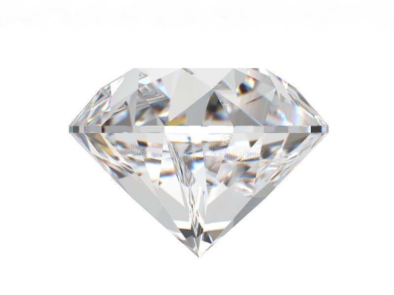 Diamante isolado no fundo branco ilustração do vetor