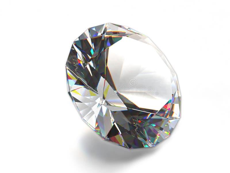 Diamante isolado no fundo branco ilustração royalty free