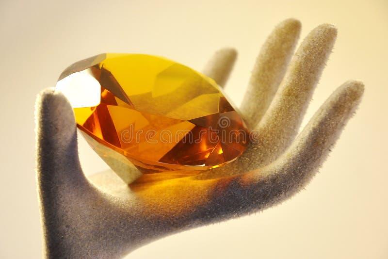 Diamante na mão imagens de stock