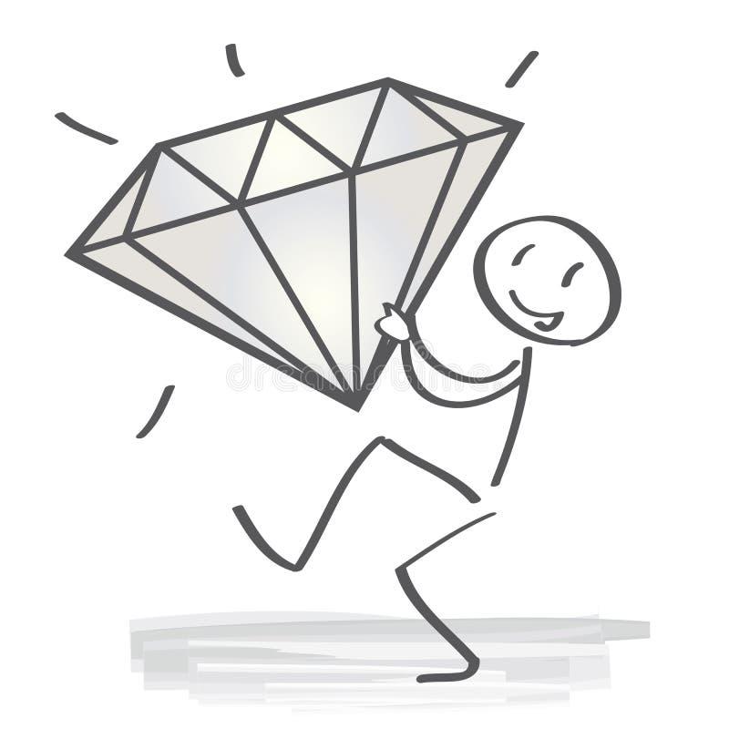 Diamante - qualidade ilustração royalty free