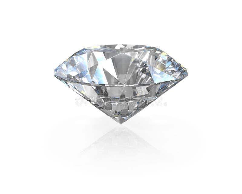 Diamante redondo, velho do corte do europeu ilustração stock