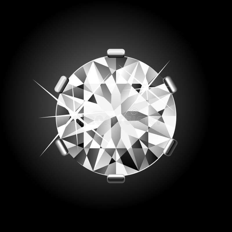 Diamante redondo. Vetor. ilustração do vetor
