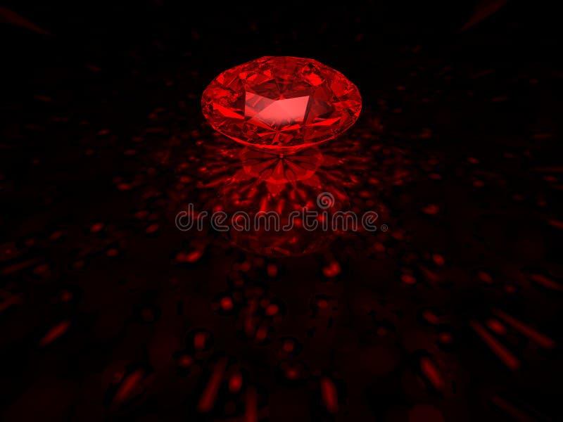 Diamante rojo foto de archivo