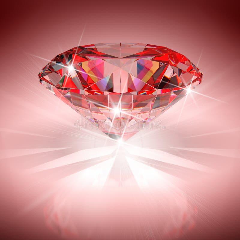 Diamante rojo fotos de archivo