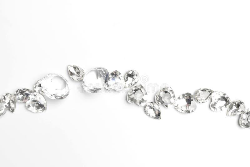 Diamante su fondo bianco immagine stock libera da diritti