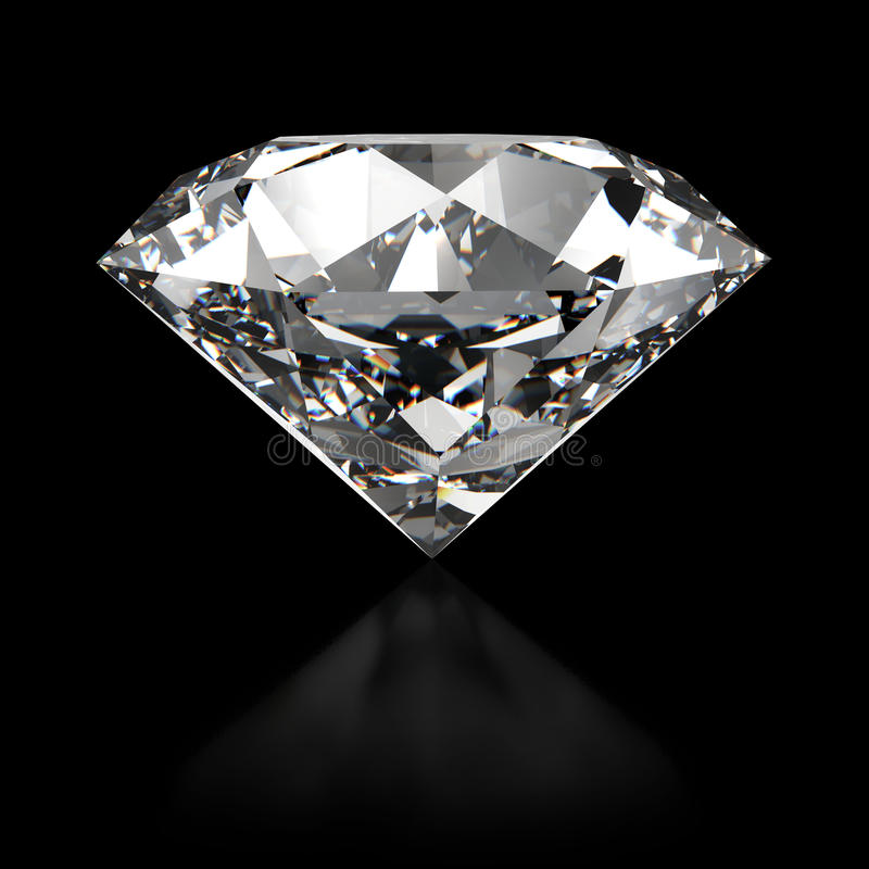 Diamante - vista lateral stock de ilustración