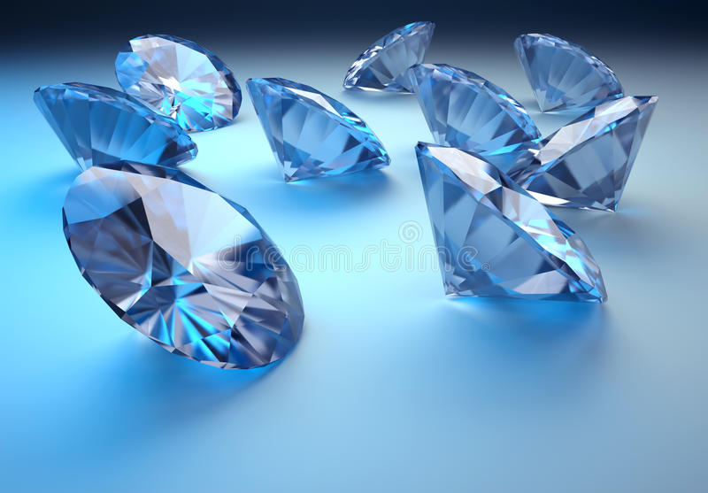 Diamanten stock illustratie