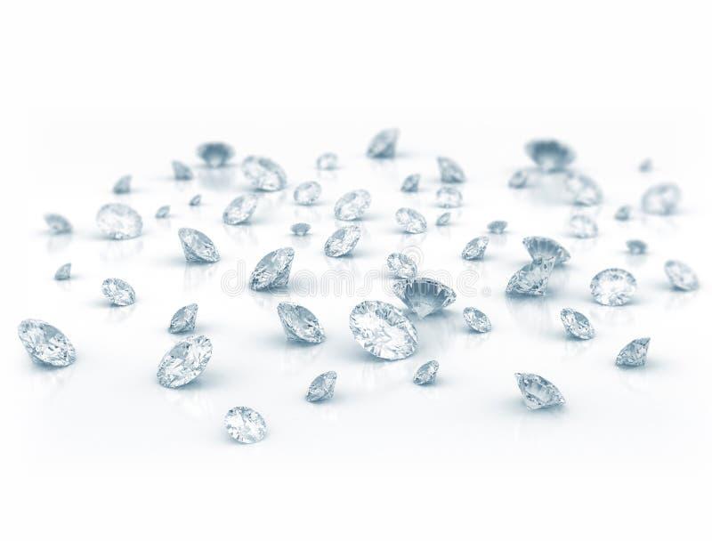 Diamanten stock illustratie