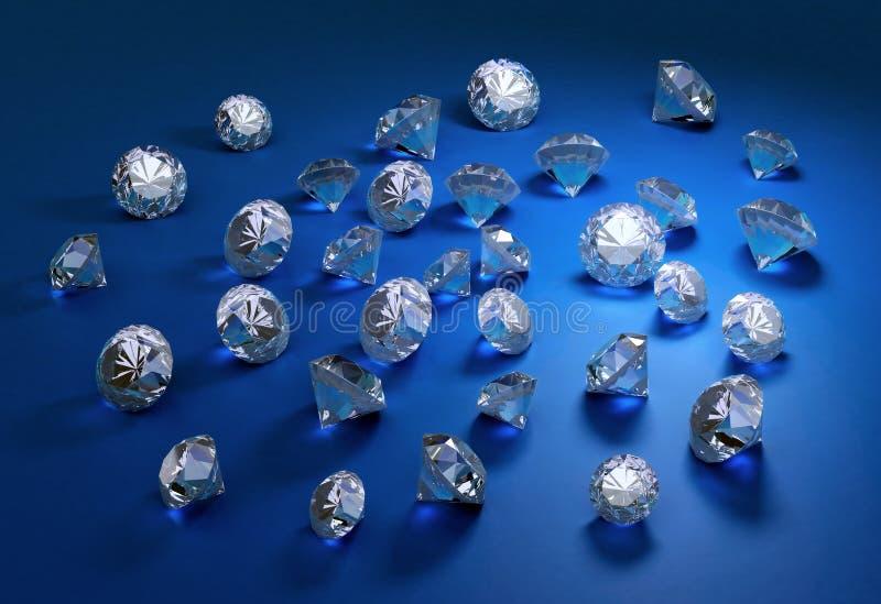 Diamanten. royalty-vrije stock foto