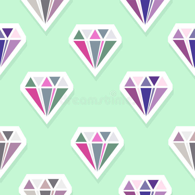 Diamanten Abstract Naadloos Patroon stock illustratie