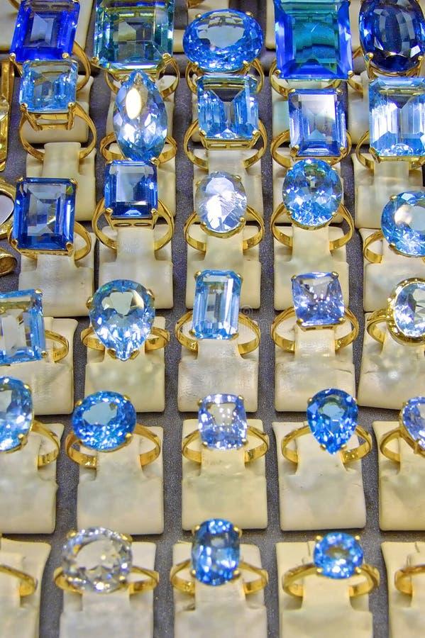 Diamanten blau stockbild