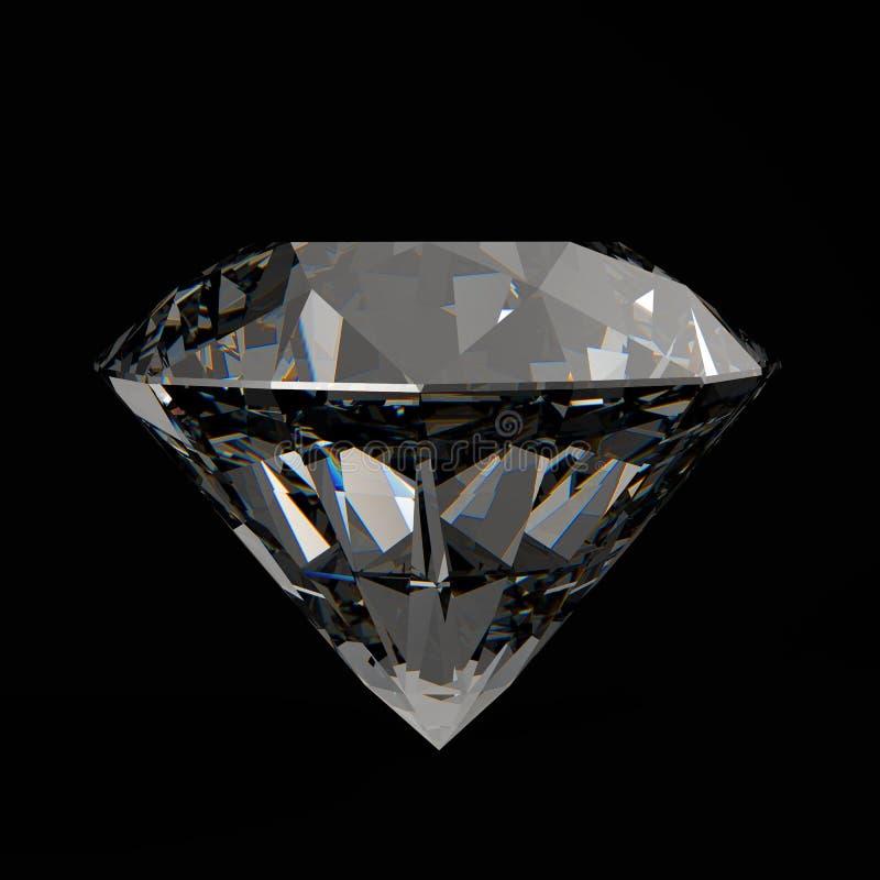 Diamanten 3d in samenstelling stock illustratie