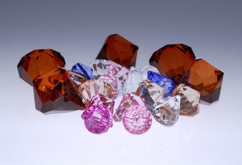 Diamanten en Gemmen royalty-vrije stock afbeelding