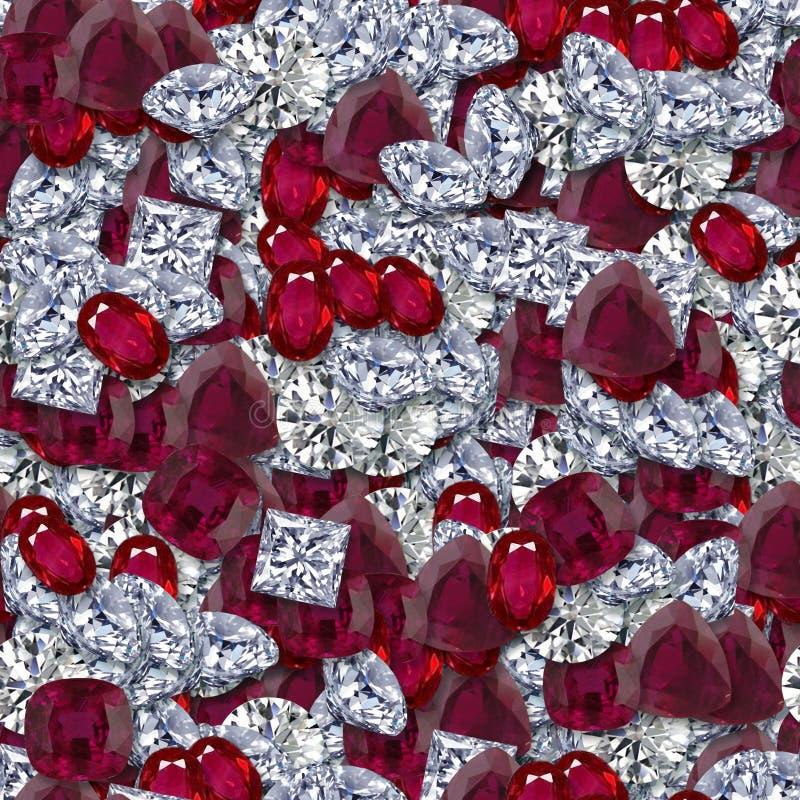 Diamanten en Robijnen royalty-vrije stock afbeeldingen