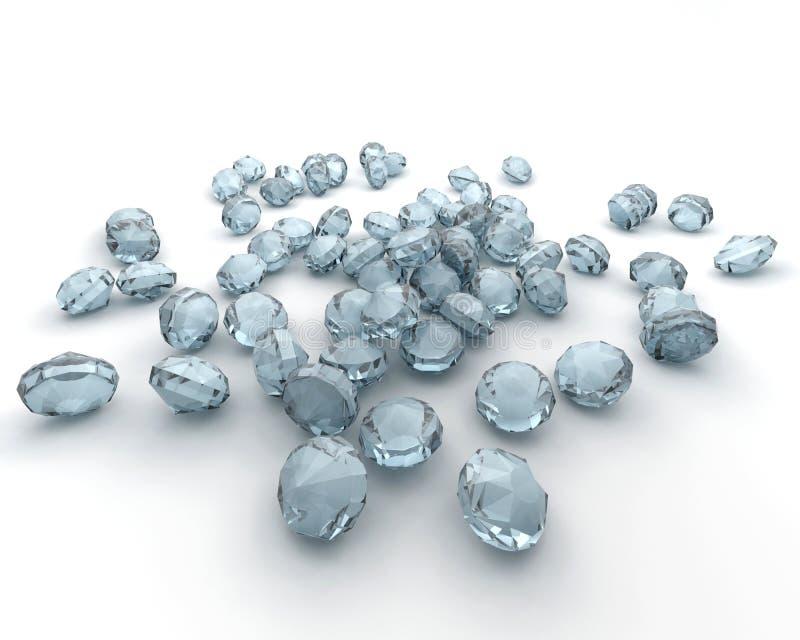 Diamanten getrennt auf Weiß stock abbildung