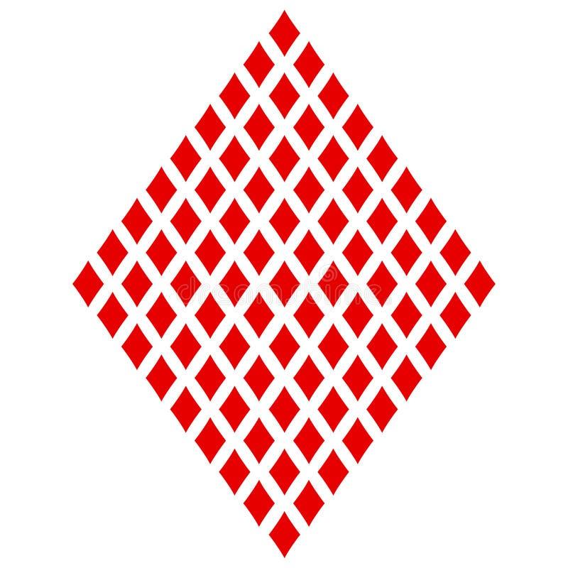 Diamanten Het gekleurde pictogram van het kaartkostuum, speelkaartensymbolen royalty-vrije illustratie