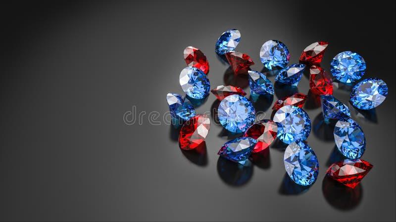 Diamanten lokalisiert auf dunklem Hintergrund vektor abbildung