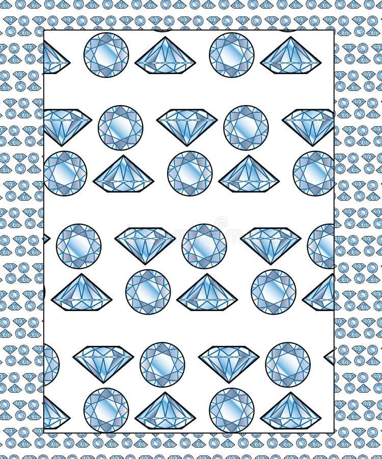 Diamanten - nahtloses Muster stockfotos