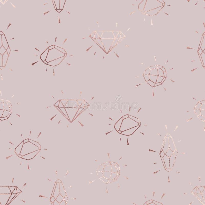 Diamanten Nam goud toe Vector elegant patroon vector illustratie