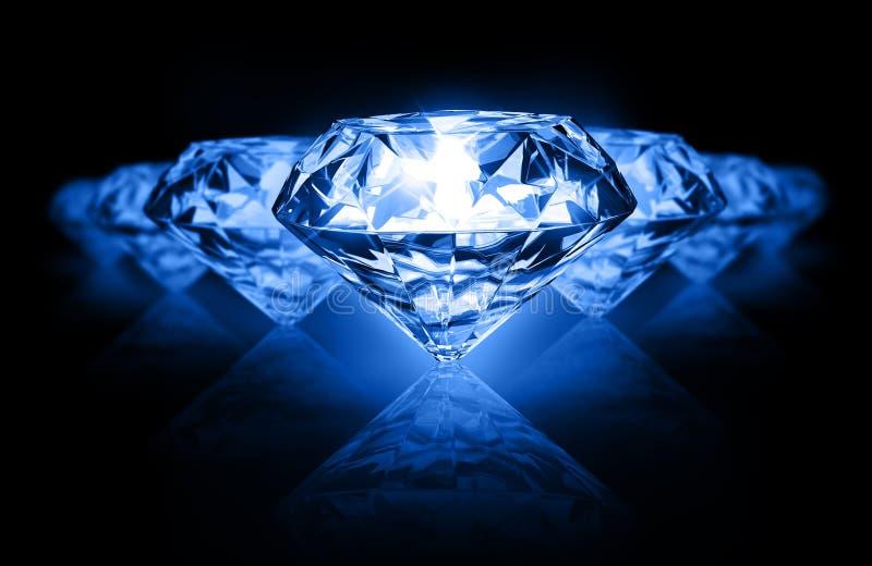 Diamanten op donkere achtergrond stock illustratie