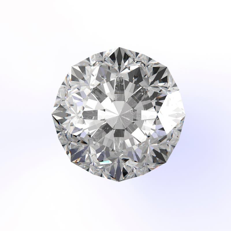Diamanten op wit worden geïsoleerd dat vector illustratie
