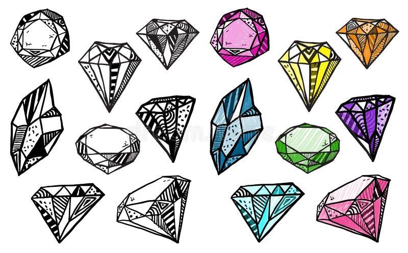 Diamanten. Reeks krabbelkristallen.