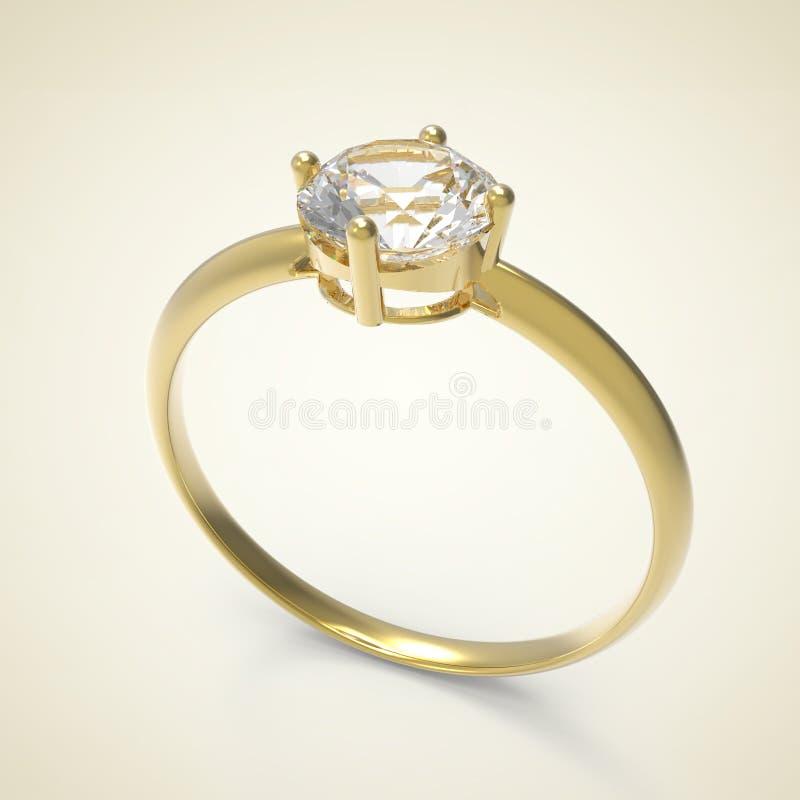 Diamanten ringer illustration 3d stock illustrationer