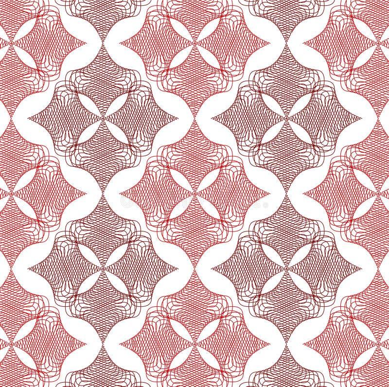diamanten snör åt röd twist för modell vektor illustrationer