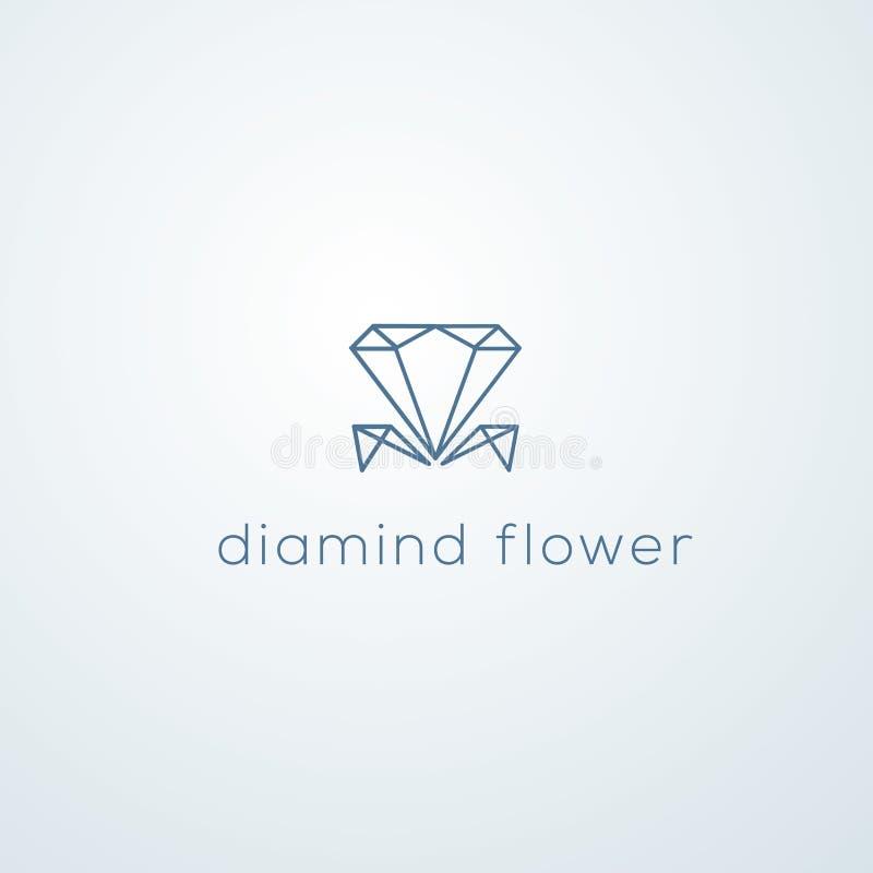 Diamanten vectorembleem Juwelenembleem vector illustratie
