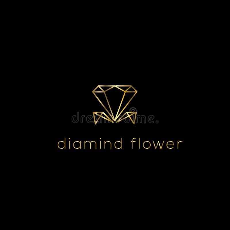 Diamanten vectorembleem Juwelenembleem royalty-vrije illustratie