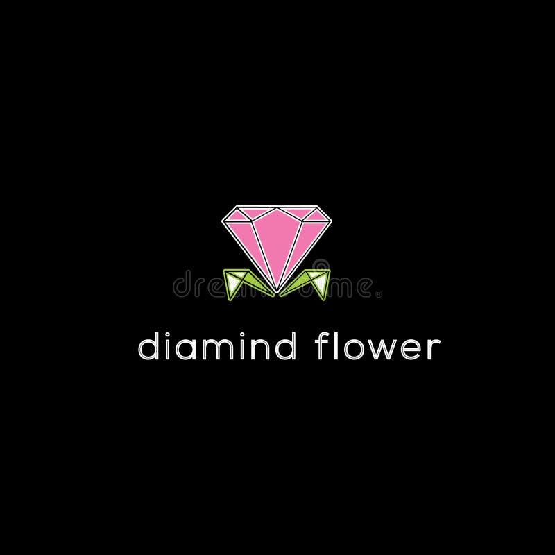 Diamanten vectorembleem Juwelenembleem stock illustratie