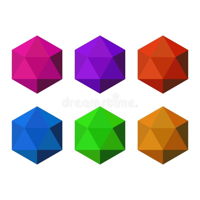 Diamanten vectorillustratie in een vlakke stijl stock illustratie