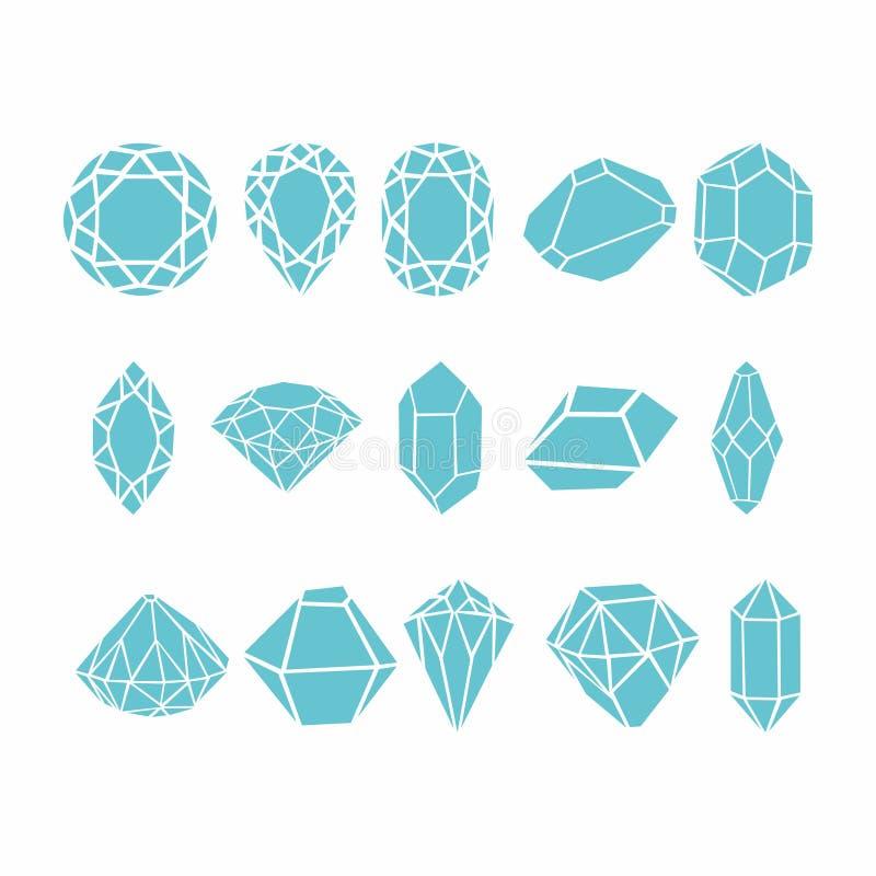 Diamanten Vectorinzameling voor uw ontwerp vector illustratie